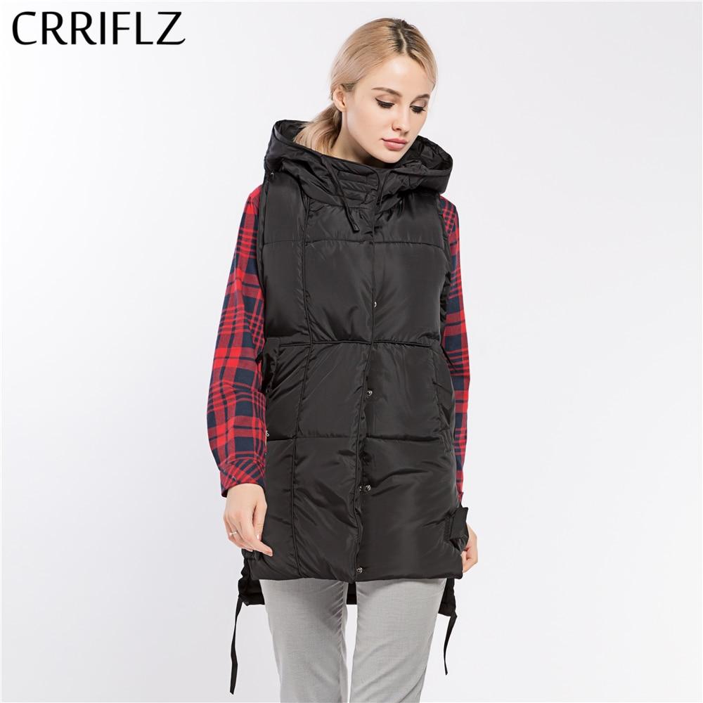 Fashionable Simple Women Coat Jacket Womans Hooded Parka Warm Vest Winter Coat Women CRRIFLZ 2017 New Winter CollectionÎäåæäà è àêñåññóàðû<br><br>