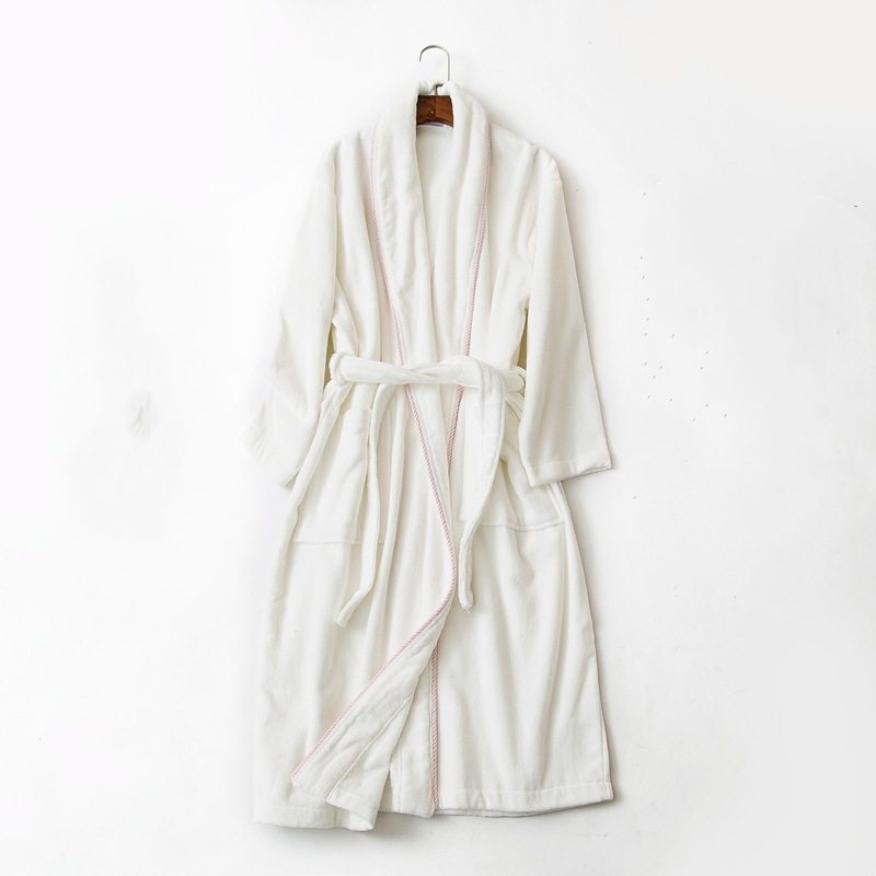 2019 Spring Brand lovers Pajamas Robe Women 100% Cotton Robes Couples Long Sleeve Turn-down collar Bathrobe Female Homewear robe