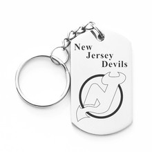 NHL New Jersey Devils Stainless Steel Dog Tag Keyrings Key Chain Holder For hockey Fans Jewelry Christmas Gift, Dropshipping!(China)