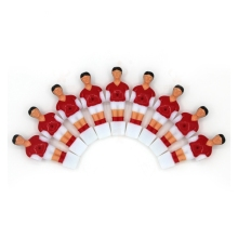 11pcs/set Mini Foosball Table Games Toys Soccer Table Player Plastic Kickers Table Football Player (12.7mm)(China)