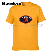 Men T-shirt Walter Payton #34 Tees Short Sleeve T SHIRT Men's W1017018(China)