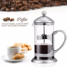 34 Oz 8 Cups Doublewall Stainless Steel Plunger Espresso French Press Tea Maker Pot Bowl R20(China)