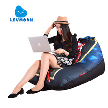 LEVMOON Beanbag Sofa Chair iron Man Seat Zac Comfort Bean Bag Bed Cover Without Filler Cotton Indoor Beanbag Lounge Chair(China)