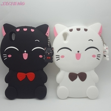 Cute 3D Cartoon Kawaii Bow Tie Cat Soft Silicone Phone Case for Sony XA ULTRA/X COMPA/XZ/Z-COMPACT/Z Rubber Cover