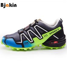 Bjakin Professional Men Trail Sneakers Outdoor Cross Country Trainers High Quality Speed Running Shoes Trainers Male Big Size