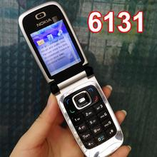 Refurbished Original Nokia 6131 Mobile Phone 2G GSM Unlocked Flip Phone English Arabic Hebrew Russian Keyboard