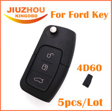5pcs Folding Remote Key 3 Button 433MHZ 4D60 Chip Keyless for Ford BF Falcon Territory Mondeo(China)