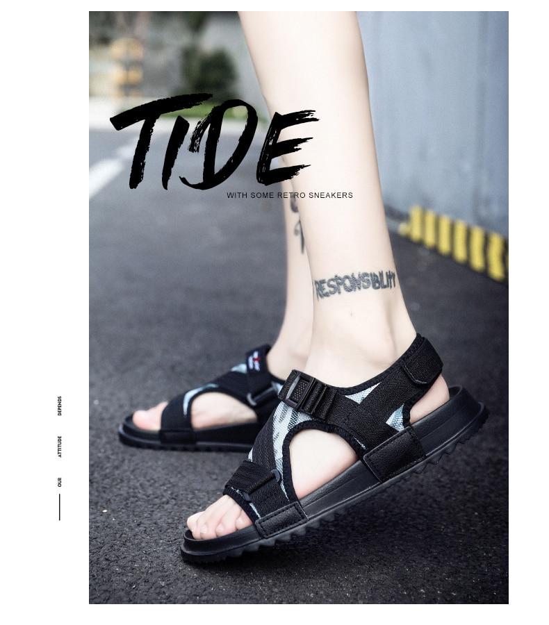 Slippers Men's Sandals Men's Summer Men's Sandals And Slippers Non-slip Beach Fashion Outdoor Wear Drag Trend 78 Online shopping Bangladesh