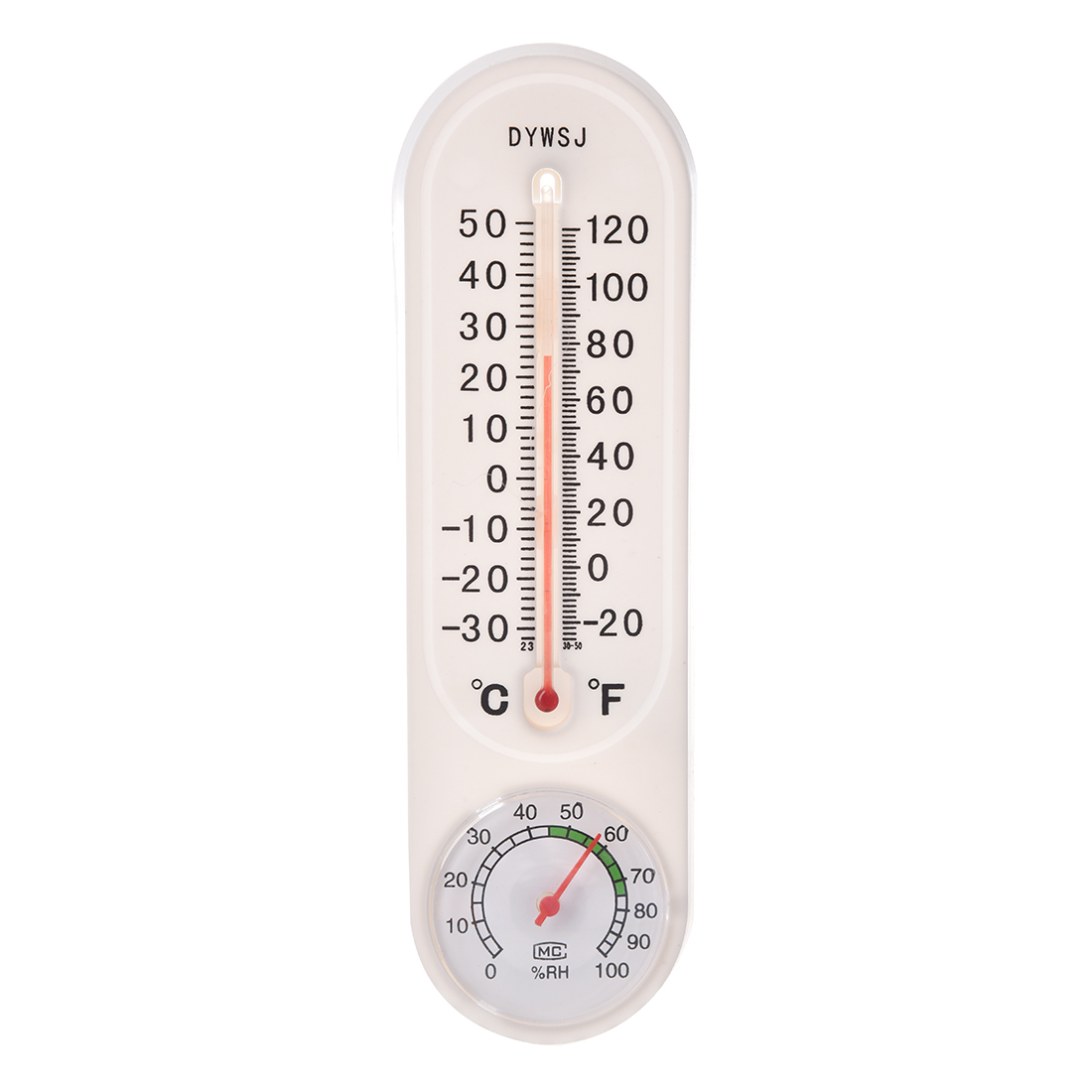 Indoor Pendant Outdoor Thermometer Home Temporary Mercury Pointer White Hygrometer(China (Mainland))