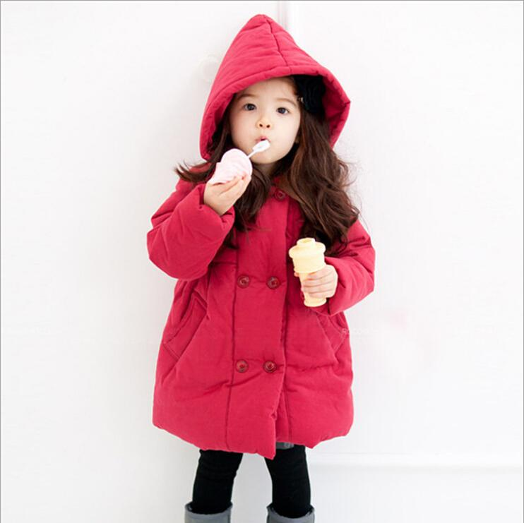Top Quality childrens Winter Outerwear Girl Clothing Casual Thickening Warm cotton-padded Coat Jacket For 2-8 Years Old KC-1632Одежда и ак�е��уары<br><br><br>Aliexpress