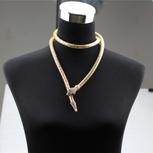 Snake Choker Necklace Collar Snake Long Necklaces & Pendants Fashion Jewelry Waist Chain Animal Accessories