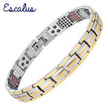 Channah 2017 Women Gold Bio Health Bracelet 4in1 Magnets Negative Ions Germanium Far Infra Red Titanium Bangle Fashion jewelry(China)