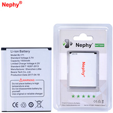 2017 Nephy Original Battery 1500mAh BL171 For Lenovo A356 A368 A390 A376 A370E A500 A60 A65 A319 BL 171 Phone Batteries In stock(China)