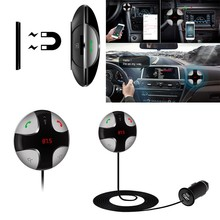 CarKit FM Magnetic Transmitter MP3 Player Sticker Wireless FM Modulator Car Kit HandsFree USB Charger for iPhone & for Android
