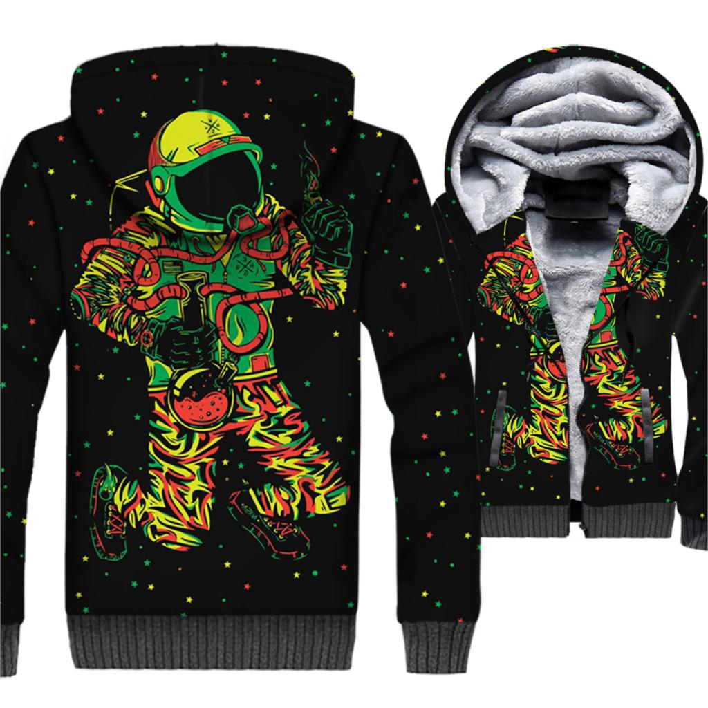 Men's Clothing Humorous 2018 New 347 Galaxy Colorful Graffiti Monkey Printed Women Jacket Hooded Femme Sweatshirt Casual Loose Men Pocket Hoodies Coat