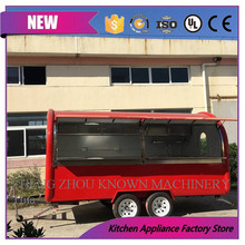 CE approved outdoor street mobile ice cream commercial food carts Mobile snack food cart truck with wheels(China)