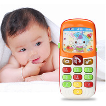 1pcs Electronic Musical Toy Phone Mini Cute Kids Mobile Phone Cellphone Telephone Educational Toys Musical Instrument for Baby(China)