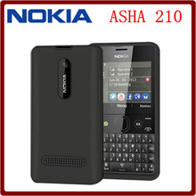 Original Nokia Asha 210 Unlocked GSM 2.4``Dual SIM Cards 2MP QWERTY Keyboard English Only Refurbished Mobile Phone Free Shipping(China)