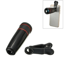 Portable 12X Zoom Telescope Telephoto Camera Lens Mobile Phone Camera Lens with Clip Universal For iphone For Samsung For Xiaomi
