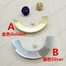Hole CC 96mm Golden/Silver color semi-circle furniture handle kitchen cabinet handle drawer pulls with base(China)