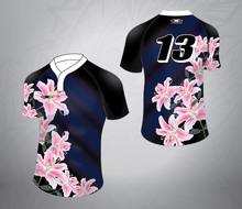 ladies sublimation custom rugby jersey , cheap FIJI rugby shirt