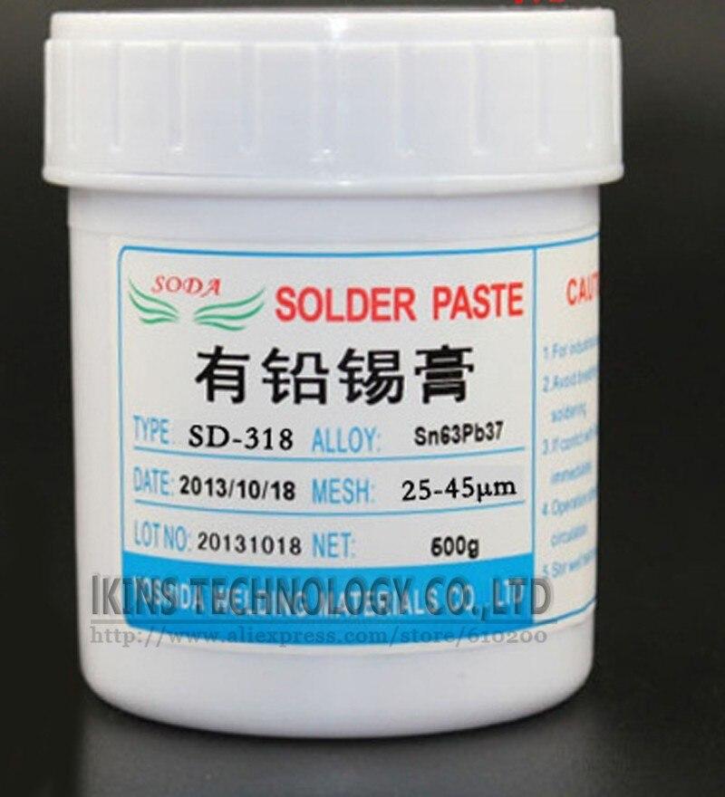 Low temperature No-clean SMT Lead-bearing LED SMT Solder Paste BGA Solder Flux Sn63Pb37 500g<br>