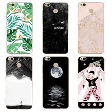 Dancer Soft Clear TPU Phone Case xiaomi redmi 4x 4a note5a note4x 5s 5s mi6 note3 Marble Moon Printed Cover Free Shipping