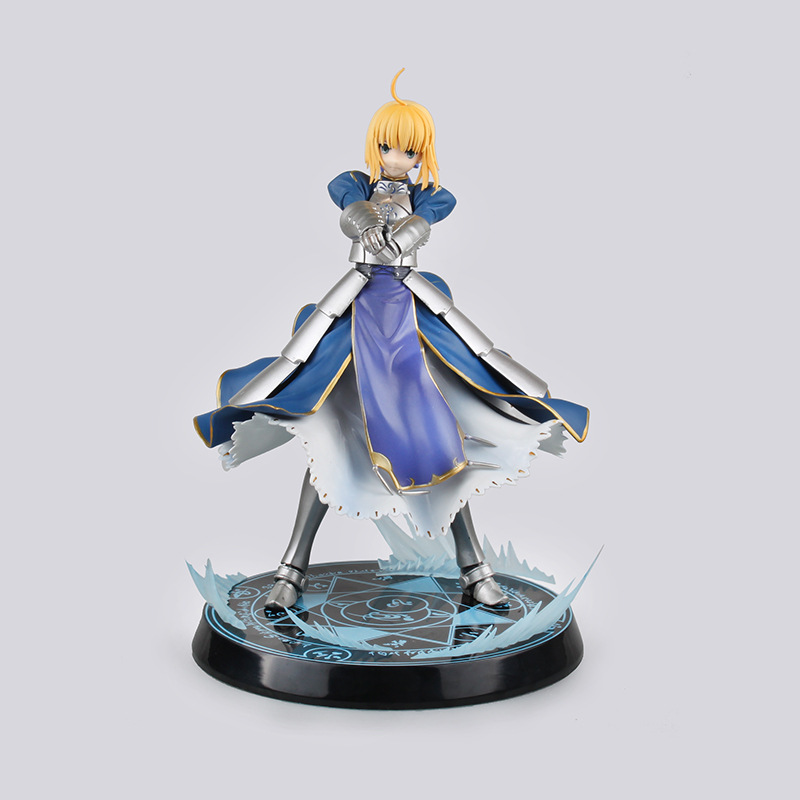 Anime 25 CM Fate/stay night Unlimited Blade Works King of Knights Saber 1/7 Scale Pre-painted PVC Action Figure Collectible Toy<br>