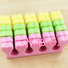 3 Pairs Toe Separator Nail Tools Soft Sponge Foam Finger Toe Separator Nail Art Salon Pedicure Manicure Tool Feet Care