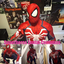 NEW PS4 INSOMNIAC SPIDERMAN SUIT 3D Print Spandex Games Spidey Cosplay Suit Halloween Cosplay Spider-man Costumes Free Shipping(China)