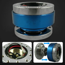 Universal Car Steering Wheel Quick Release Hub Adapter Snap Off Boss kit Blue