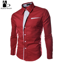 New Mens Shirt Dress Shirt Long Sleeve Slim Fit Formal Korean Shirt Social Striped Collar Fashion Wedding Shirts Asian Size(China)