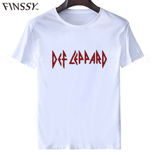 Graphic T Shirts Crew Neck Print Short Mens Def Leppard Live More Roundneck Tee xxxl(China)
