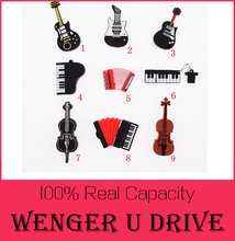 Fashion U disk pendrive cartoon guitar/violin/piano/harmonica/pendriver pen drive 8GB 32GB usb flash drive 512GB U DISK USB 2.0