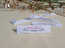 Custom Clothing Labels,Handmade Tags,Sewing Labels,Custom kids or Baby Name Labels / Brand Tags,Cotton Ribbon Tags,Logo Labels(China)