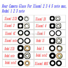 1PCS New Rear Camera Glass repair for Xiaomi M2 M2S M2A M3 M4 M5 MAX NOTE Redmi 1S 2 2A 3 NOTE NOTE 2 NOTE 3 phone free shipping