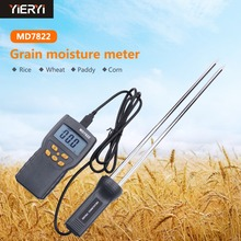 yieryi New MD7822 LCD Display Digital Grain Moisture Meter Humidity Tester Contains Wheat Corn Rice Moisture Test Meter