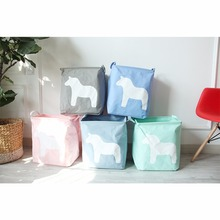 Candy Color Cosmetics Storage Box Stationery Small Makeup Box Case Cute Horse Style Desk Desktop Organizer#226353
