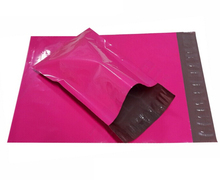 50Pcs/Lot 25x39cm Poly Mailer Courier Bags Purple Self Adhesive Mail Express Bag Goods Packaging Postage Packing Mail Bags(China)