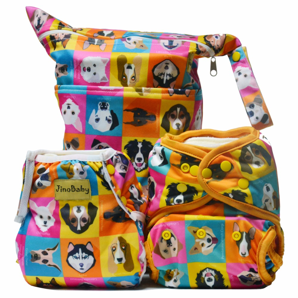 Doggies Party Purrrrfect O.N.E. Bamboo Diaper Pants (Fitted Diaper+Baby Swimming Diaper+Dry Wet Bag)<br>