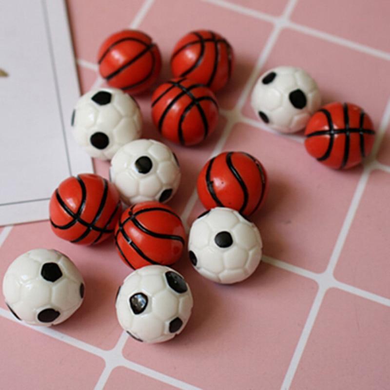 10pcs 1:12Dollhouse Miniature Sports Balls Soccer Football and Basketball DecorH