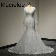Buy Vestido De Noiva Manga Longa Sexy Lace Mermaid Wedding Dresses 2017 Backless Wedding Gowns Lace Beading Robe De Mariage for $181.02 in AliExpress store
