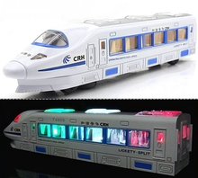 BOHS Beautiful Electric Train Toy with Music, goes around and changes directions on contact - Great Gift Toys for Kids(China)