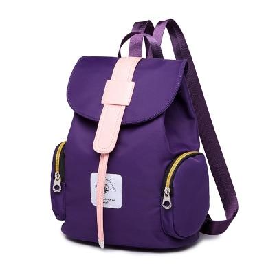 Preppy Style Solid Teenager Girls School Book Backpack Leisure Women Oxford Rivet Backpack Shoulder Bag Mochila Feminine Casual<br><br>Aliexpress