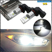 2pcs 6000K Xenon White Powered By Philips Luxen LED 9005 HB3 9145 H10 Bulbs For car High Beam/Daytime Running Lights/Fog Lamps