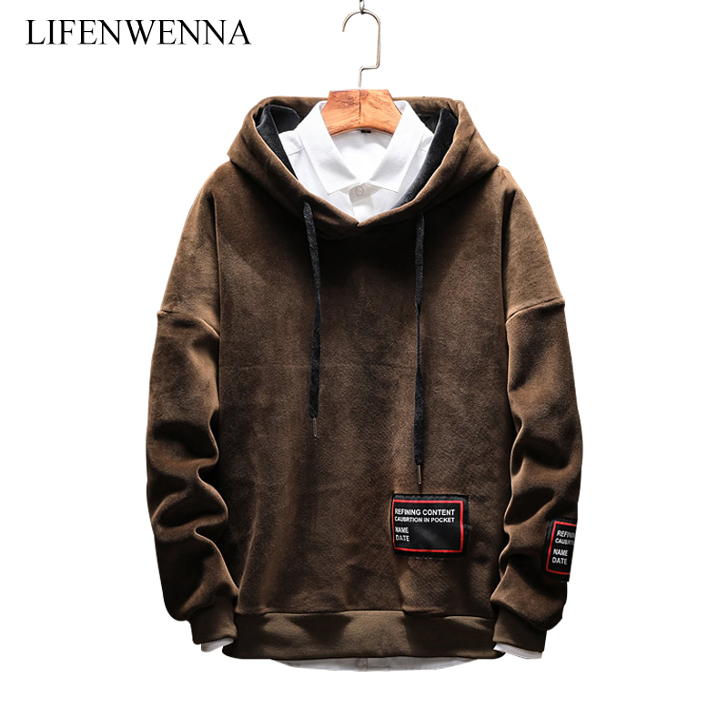 High Quality Men's Sweatshirts 2019 Autumn New Fashion Letter Print Hoodies Casual Soft Pullover Hooded Sweatshirts And Hoodies