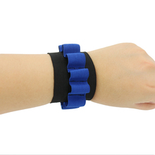 Rowsfire Bandolier for Nerf N-strike Elite Series Soft Bullet Wristband Dart Ammo Storage Wrist Strap - Blue(China)