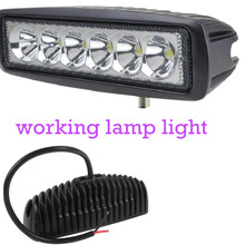 wholesale Truck 4x4 SUV ATV Spot 12V 6 Inch 2pcs 18W LED Work Light for Indicators Motorcycle Driving Offroad Boat Car Tractor(China)