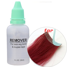 1Bottle Professional 1OZ 30ml Hair Glue Remover For Lace Wig Bond Toupee Skin Weft Tape Hair Extension Accessory Salon Use
