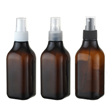 (50pcs/lot)200ml brown Liquid plastic spray pump bottle R24 Empty cosmetics bottles 200 cc amber PET spray bottle Hot sale